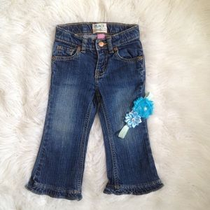 5/$25🎀The Children's place ruffle flare Jean